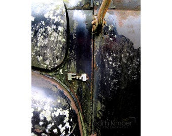 Vintage Vehicle Print - Ford Truck Fine Art Photograph - Abandoned Auto - Old Car Photography - 8 x10