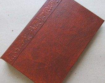 Refillable Journal Handmade Distressed Rust Brown Original 6x4 traveller notebook