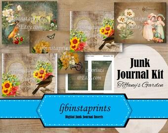 Vintage Nature Junk Journal Kit, Nature Junk Journal Kit, Garden Junk Journal Kit, Spring Junk Journal Kit, Instant Download