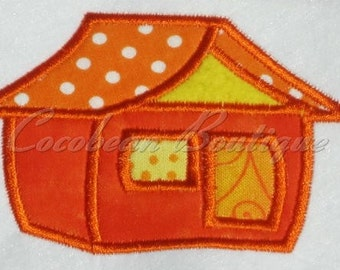 embroidery applique House 2