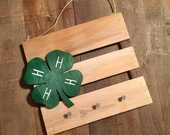 4H Hanging Wood Sign