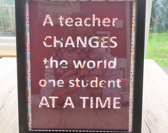 A Teacher appreciation gift, frame