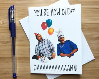 Friday Birthday Card, 90s Pop Culture, Hip Hop Birthday Card, Funny Birthday Card, Happy Birthday Funny Greeting, Cult Classic Movies