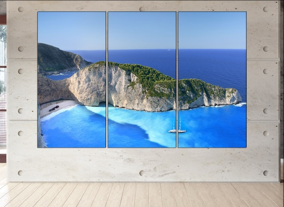 Beach Navagio  canvas Beach Navagio  wall decoration Beach Navagio  canvas art Beach Navagio  large canvas  wall decor