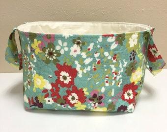 Fabric Basket Caddy-Quilted-Organizer-Gift Basket-Storage