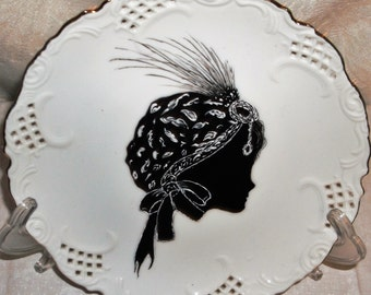 Snowflake China Painted Ornament to Adorn Your Decor with Elegance