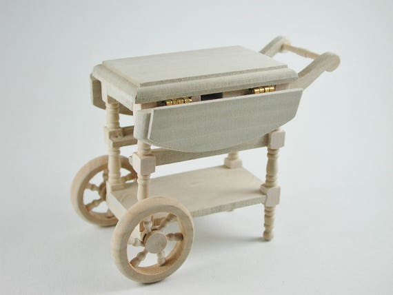 Trolley, for the doll parlor, the doll house, Dollhouse miniatures, cribs, miniatures, model building # 840-262