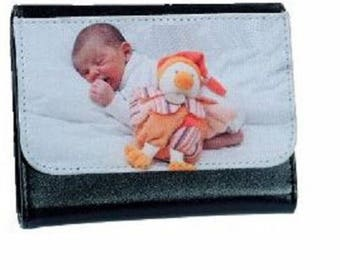 Portfolio 11.5 x 10 cm leather personalized with your photos
