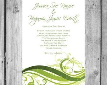 Earthy Swirl Wedding Invitation Set