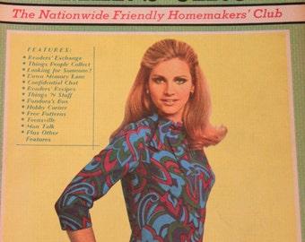 Vintage Women's Circle Magazine December 1968 January 1969 1960s Vintage Winter Fashions, Ads, Recipes