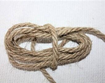5 mm Jute Cord Natural = 11 Yards = 10 Meters of TWISTED CORD Jute Rope Natural Fiber Rope Jute Cord Rope Burlap String Cording Jute Rope