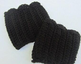 Black Ribbed Boot Cuffs