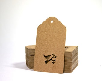 Kraft Tag, Bird Tag, Anniversary Tag, Set of 20
