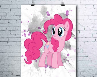 My Little Pony - Pinkie Pie - Birthday - Little Pony Party - Pinkie Pie Poster - Pinkie Pie Printables - Pinkie Pie Print - Pinkie Pie Art