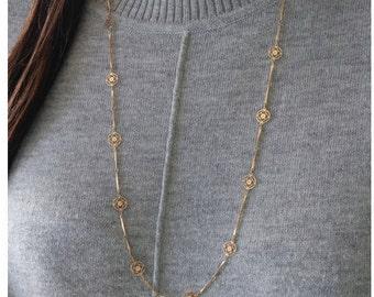 Vintage Avon Floral Gold Necklace - Delicate Flower Chain necklace