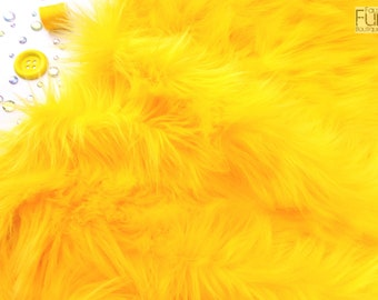 "Yellow faux fur 2"" pile, yellow fabric craft squares, yellow fursuit fur, yellow cosplay fur, yellow shag fur, yellow faux fur, yellow fur"