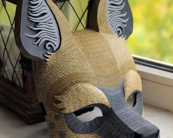 Hyena Mask. Animal Mask.