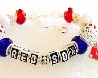 Boston Red Sox  jewelry bracelets, Baseball  jewelry bracelets all inspired, handmade
