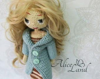 Crochet doll, Amigurumi doll, Art doll, handmade doll, girls toy