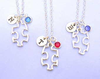Personalized necklace, Set of 1 2 3 4 5 6 7 8 9 10 , best friend jewelry, Jigsaw charm,Best Friend Jewelry, Way, Person, Piece,Friendship