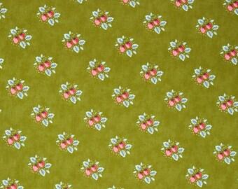CLEARANCE! Little Miss Sunshine-Lella Boutique-Moda Fabrics-Leaf-Strawberry Patch-Moda-Sewing- Apparel Cotton-Half Yard Cut