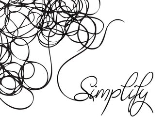 """Wall Decor Inspirational Quote """"Simplify""""   Downloadable Printable Art   Notecards and Wall Art"""