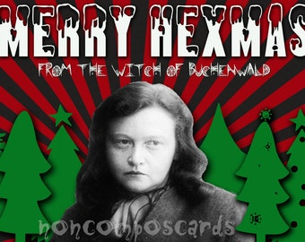 Ilse Koch Witch of Buchenwald Christmas Card