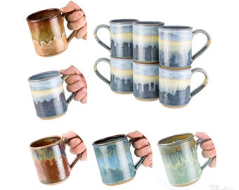 Handmade pottery mug- choose your size and color / coffee mug | wheel thrown pottery mug, handmade stoneware / MADE TO ORDER- Allow 6 weeks-