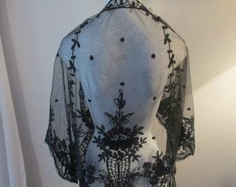 Battenburg Lace Victorian Wrap/Shawl