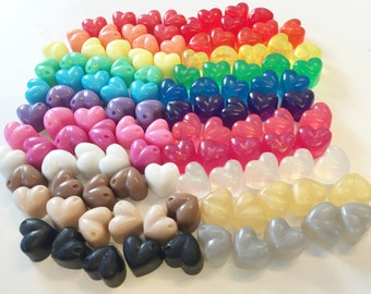 50 x  Mini Heart Soaps - Choose your colour and fragrance! Wedding Birthday Party Favours