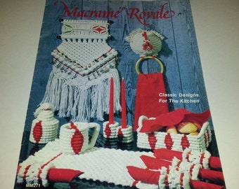 Macrame Royale-Classic Macrame Designs for the Kitchen Vintage 1978