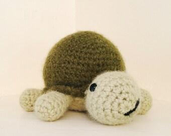 Stuffed turtle crochet wool toy