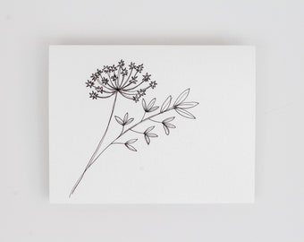 Leaves and Flowers - Greeting Card