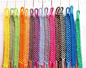 Friendship Bracelet Brazilian Chevron Boho Hippie Choose your Color Summer Arm Candy Custom