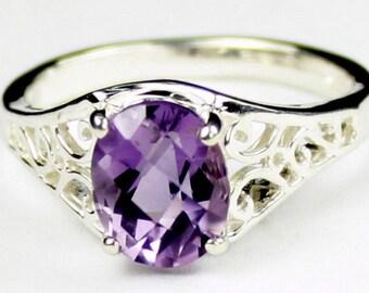 Amethyst, 925 Sterling Silver Ring, SR005