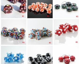 Limited edition lampworked glass beads-Hand Made Beads