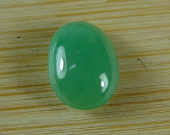 Handmade  Certified Apple Green Jade Cab Cabochon Natural A Jadeite Cabochon A-084-2