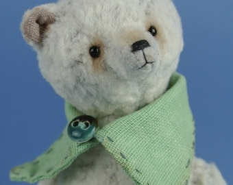Teddy bear Snowdrop-vintage bear white