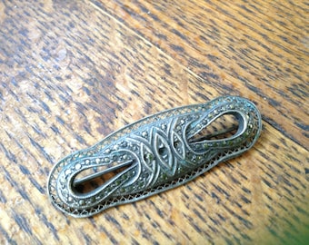 Vintage sterling and Marcasite pin