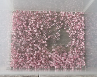 candy pink seed beads 9g