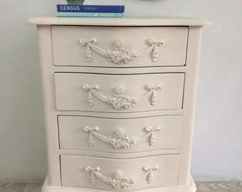 SOLD - Pale Calamine Bedside Table
