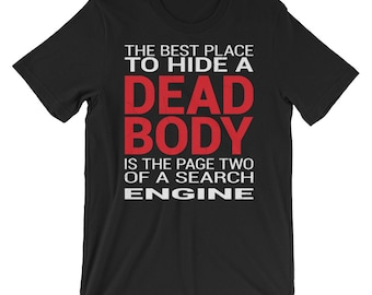 Funny SEO T-Shirt With Cool Eroded Typography