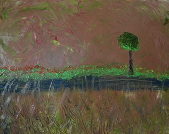 Lone Tree with Wind 48 x 36