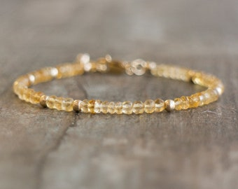 Citrine Bracelet - November Birthstone
