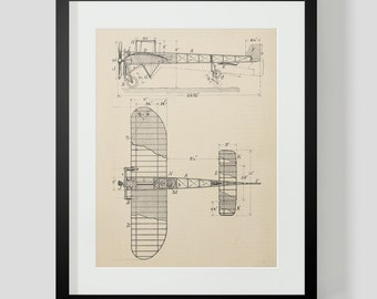Vintage Flying Machine, Airplane Print 6