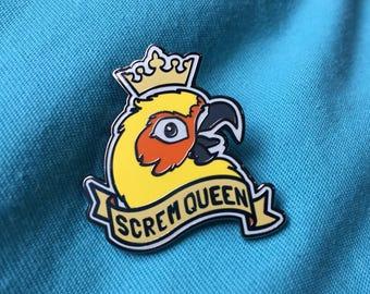 Screm Queen Mango enamel pin