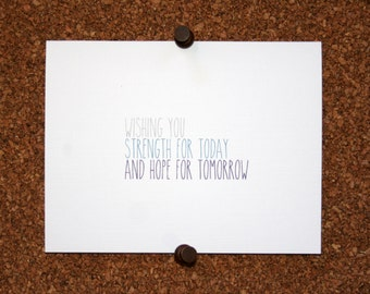 """Sympathy Cards with Quote """"Wishing you peace for today and hope for tomorrow"""" / Quote"""
