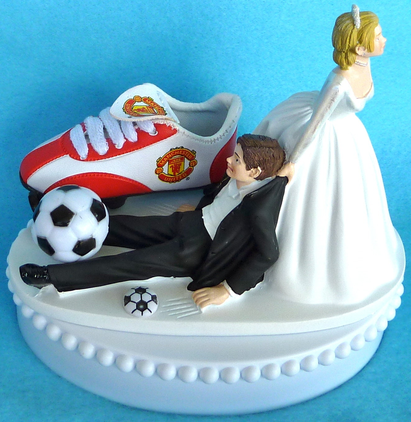 Wedding cake topper manchester united man u soccer themed w zoom junglespirit Images