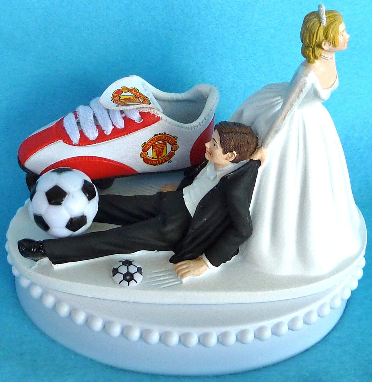 Wedding cake topper manchester united man u soccer themed w zoom junglespirit Choice Image