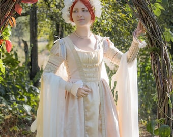 Renaissance fairy costume fantasy wedding dress